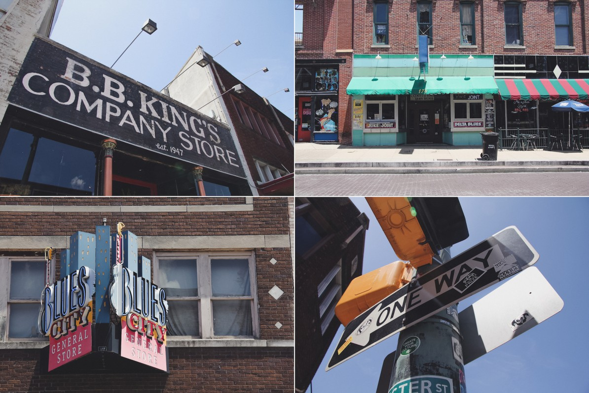 memphis beale street wasmitb collage bb king's company store shops blues city one way