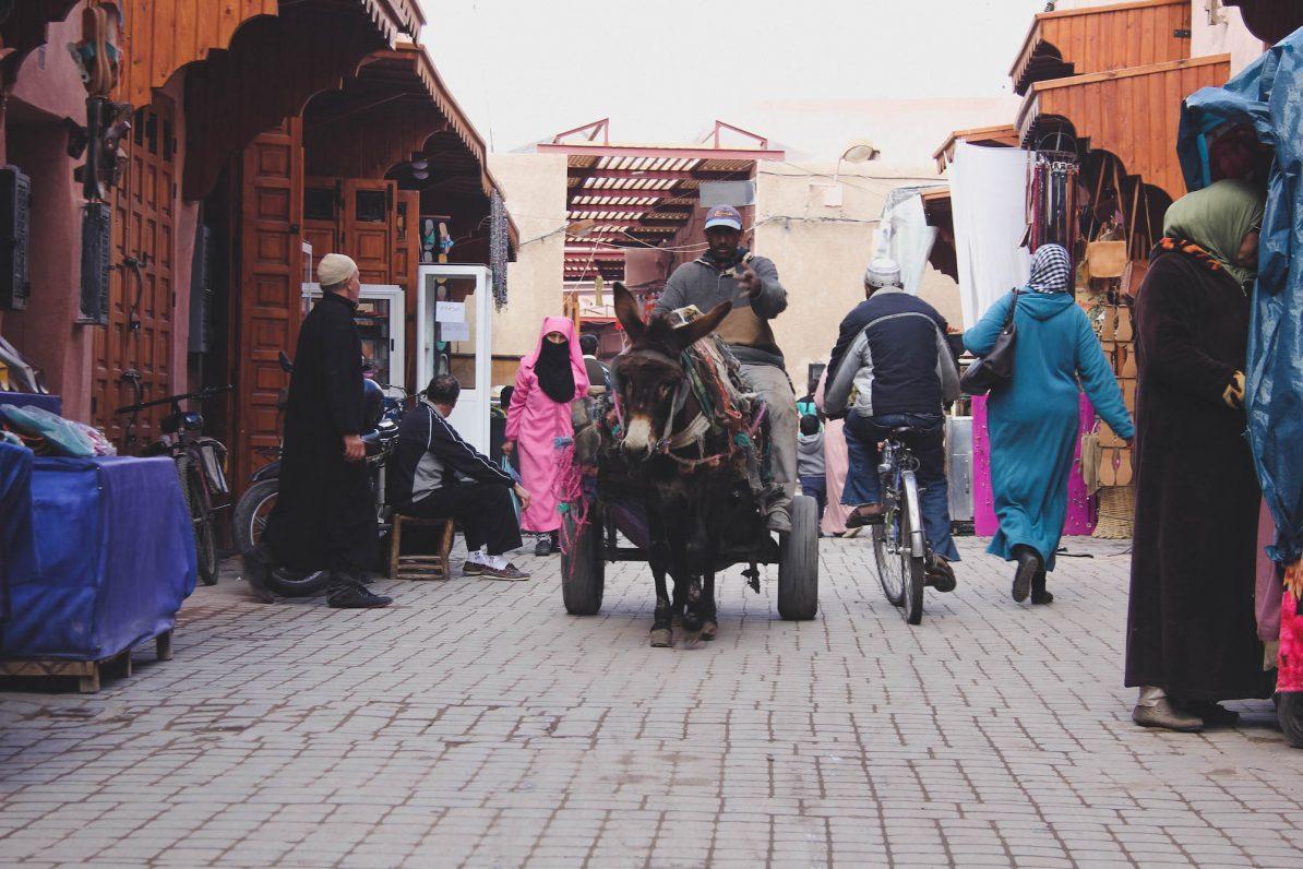 Marrakesch: In den Souks geht es chaotisch zu